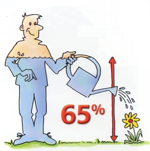 Eau 65 pour cent du corps humain