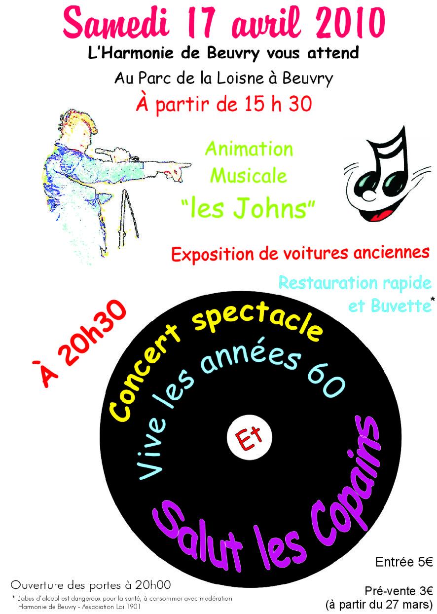 Affiche concert avril 2010